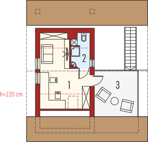 Budynek gospodarczy G35 - Rzut poddasza