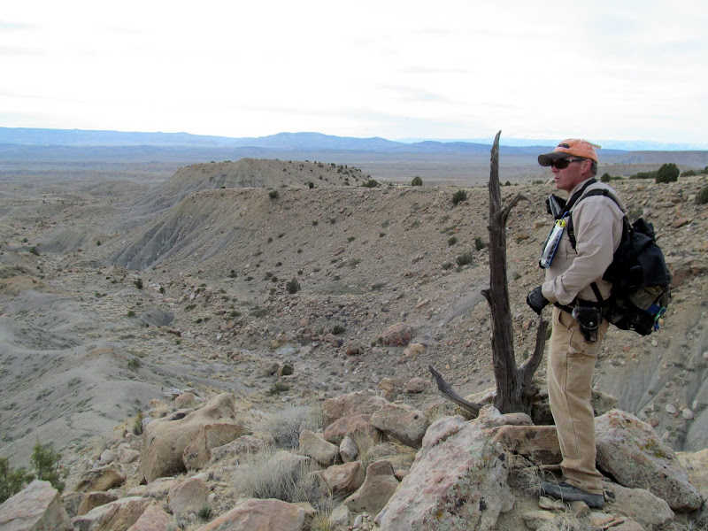 Photo: Alan at the lower trail marker