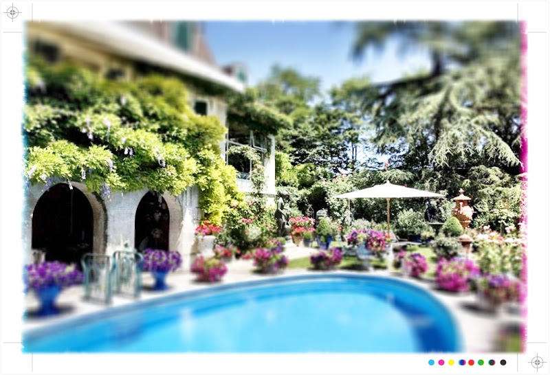 Photo: Lake Geneva, Switzerland.  This lake front property has amazing gardens perfectly landscaped to make the most of its views over the lake and to Mont Blanc. (POA). http://search.knightfrank.com/rsi110089