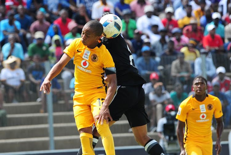 Nkosingiphile Ngcobo of Kaizer Chiefs challenged by Darnell Job of Orlando Pirates during the MultiChoice Diski Challenge game between Kaizer Chiefs v Orlando Pirates at Sinaba Stadium on the 15 January 2017.