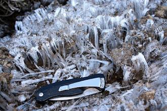 Photo: Ground ice needles
