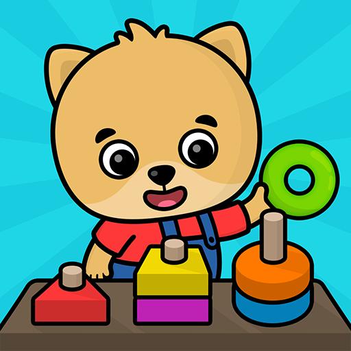 (好玩)2-5歲寶寶早教認知的手機平板益智遊戲:學習計數,形狀和顏色APP