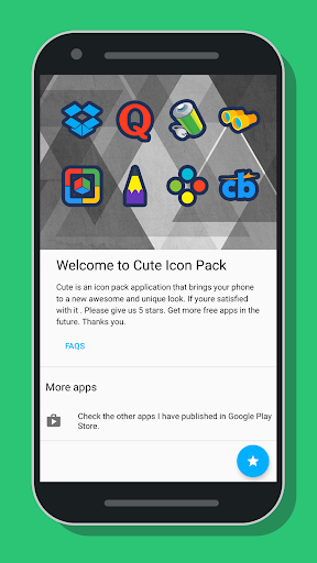 Cute Icon Pack Apps voor Android screenshot