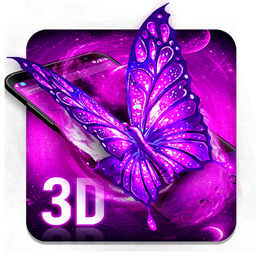 3D Neon Galaxy Butterfly file APK for Gaming PC/PS3/PS4 Smart TV