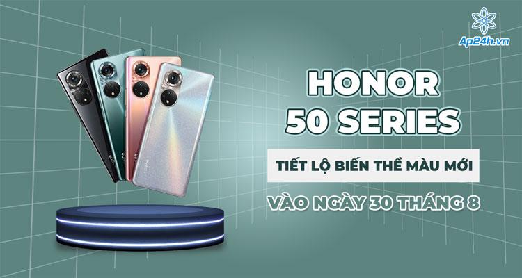 Phối màu mới cho Honor 50 ra mắt vào ngày 30 tháng 8