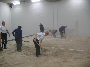Photo: All hands on deck to help in the Long Jump Pitt