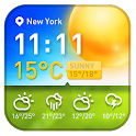 Free Weather and clock widget icon