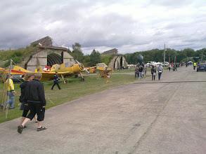 Photo: old east-german agrar planes, camp main road
