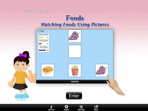 Matching Foods Using Pictures Lite Version 1.0 screenshots 1