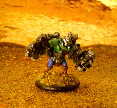 Photo: Fantasy orc done up as a boss