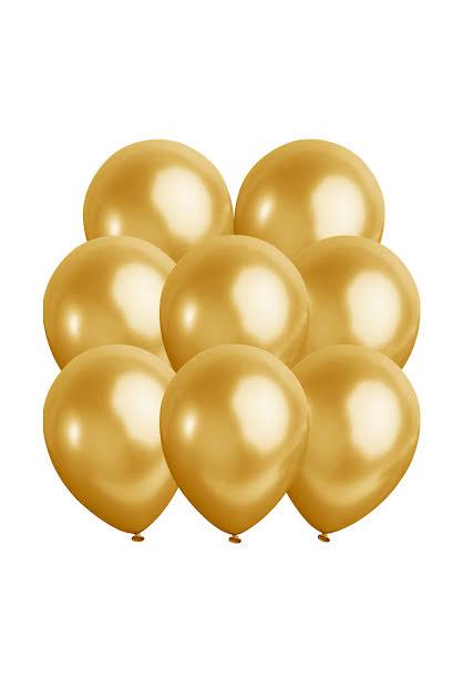 Metallic ballonger, guld 10 st