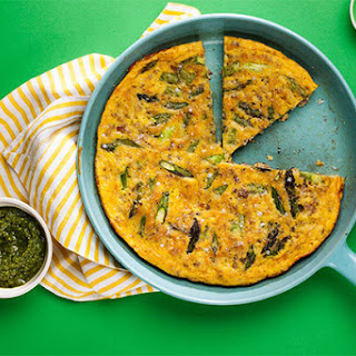 Frittata with Fennel-Spiced Pork and Asparagus