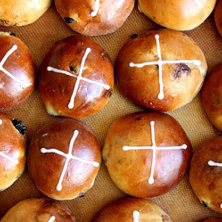 Cherry Chocolate Hot Cross Buns