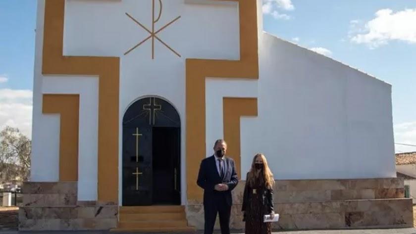 García Egea visita las obras en Albox.
