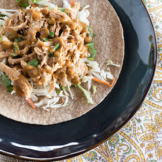 Slow Cooker Asian Chicken Wraps.