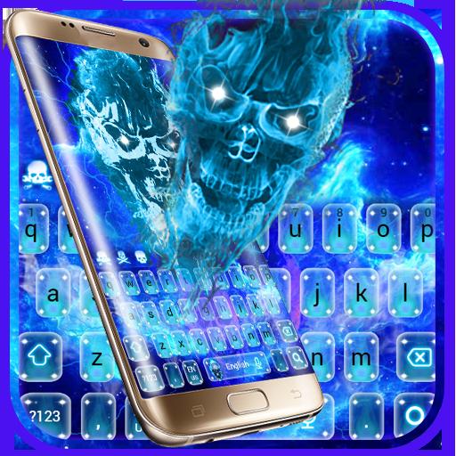 Hell Fire Skull Galaxy Magic Keyboard