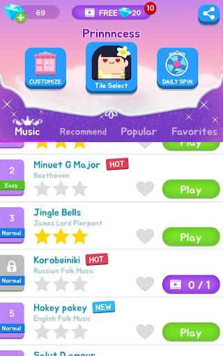 Magic Castle Piano Tiles:  Free Rhythm Music Games apkpoly screenshots 9