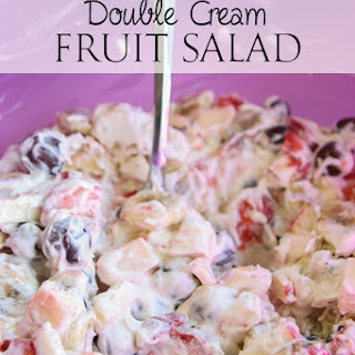 Double Cream Fruit Salad.