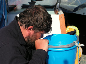 Photo: Глеб ищет планктон в ведре./Gleb is searching for plankton in the bucket of water from Gulfstream
