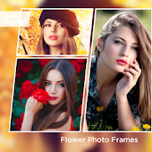 Beautiful Flower Photo Frames Greeting Cards