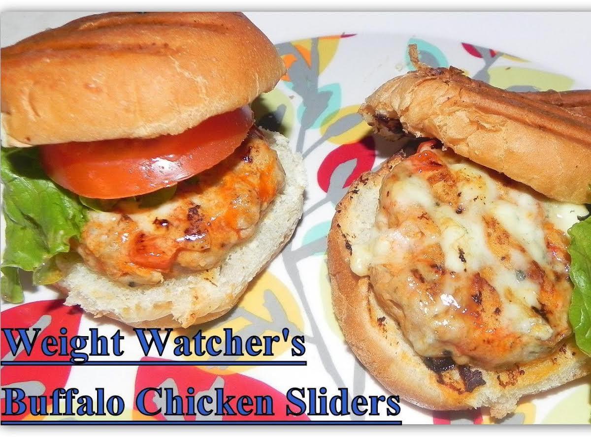Weight Watcher S Buffalo Chicken Sliders Just A Pinch Recipes