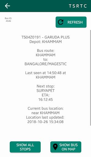 TSRTC Hyderabad - Live Tracking and Info 4.7 screenshots 2