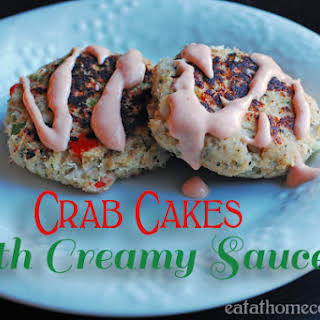 Crab Cakes with Creamy Sauce.