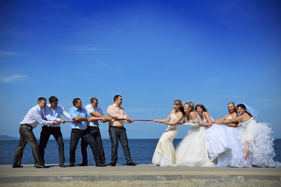 Sports, Rope, Vapor, Sea, Wedding, The Groom, Bride