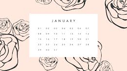 Flowery Monthly - Monthly Calendar item