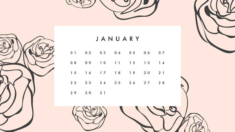 Flowery Monthly - Calendar Template