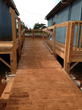 Photo: I wish the students could see this. Everything is measured so precisely, and the angle of the ramp had to follow guidelines for the Americans with Disabilities Act.
