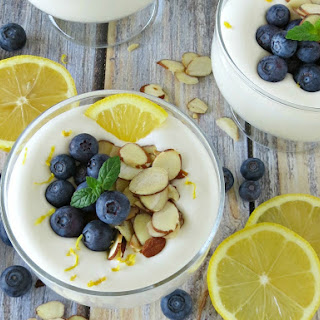 Whipped Lemon Cheesecake and Blueberry Parfaits
