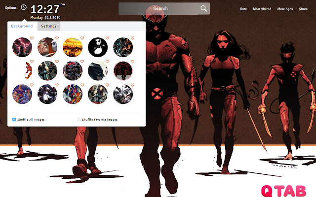 X Force Wallpapers Theme X Force New Tab