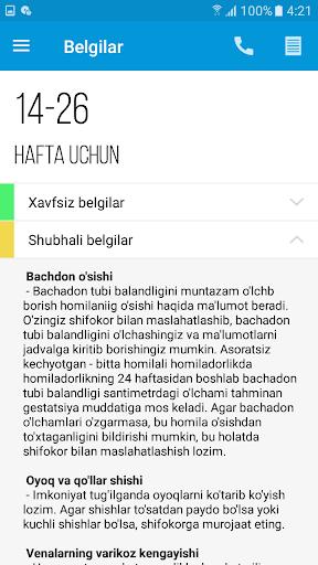 Homiladorlik davri 5.0 screenshots 6