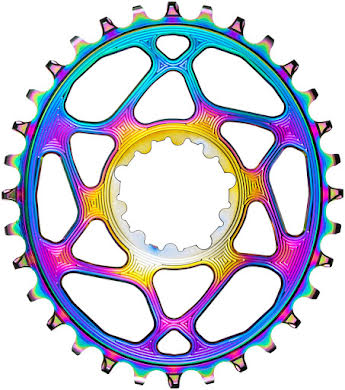 Absolute Black Oval Narrow-Wide Direct Mount Chainring - SRAM - 3mm Offset - PVD Rainbow alternate image 1