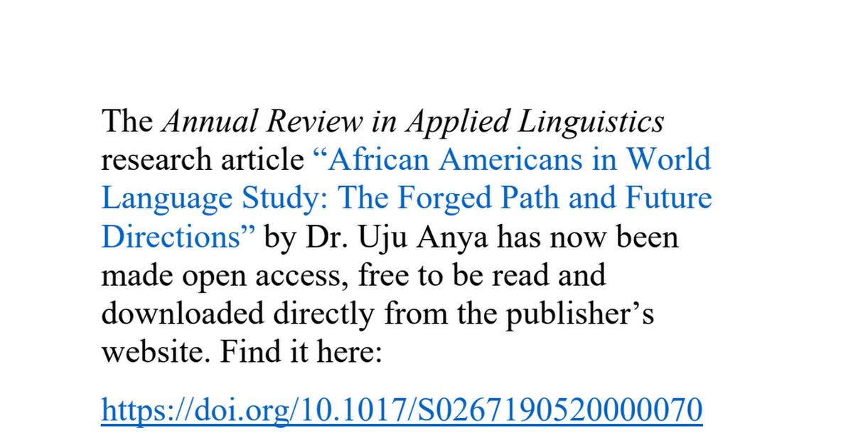 UjuAnya_AfricanAmericansInWorldLanguageStudy.pdf