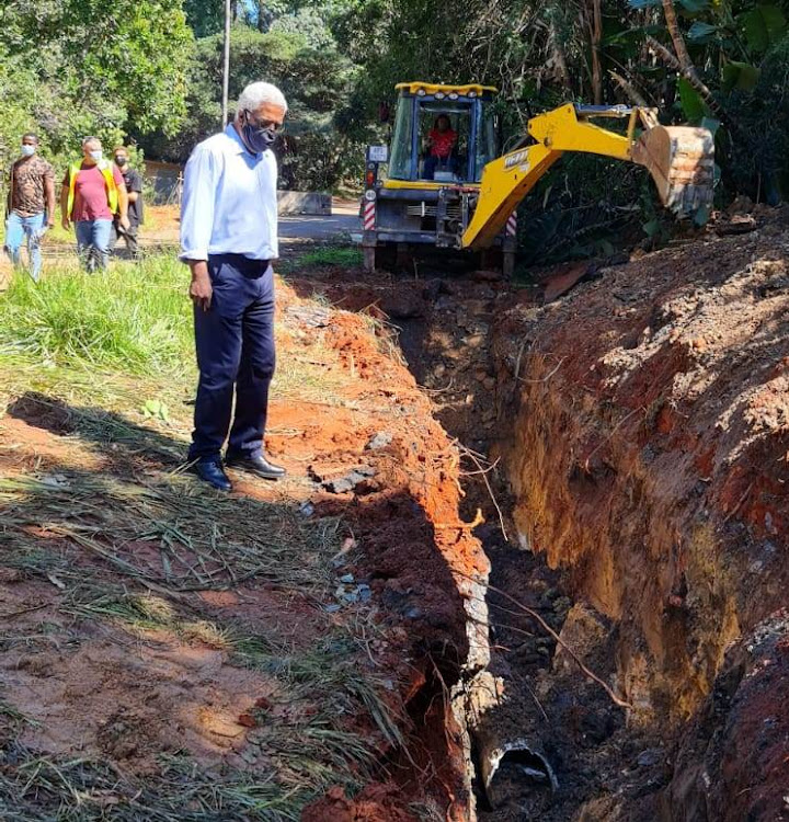 MEC Ravi Pillay embarked on an inspection in Uvongo on the KZN south coast following complaints from the public.
