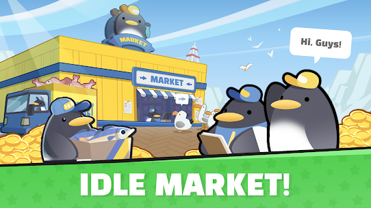 Penguin Market : Idle Tycoon Manager 1.1.10 Latest MOD APK 1
