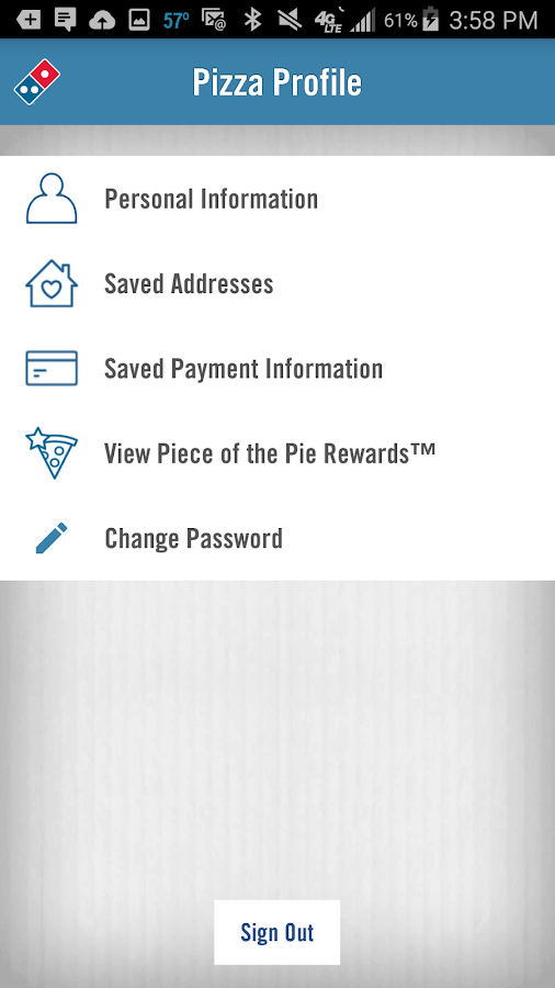 Screenshots of Domino's Pizza USA for iPhone