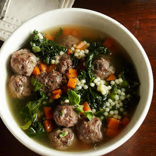 Italian Wedding Soup with Escarole.