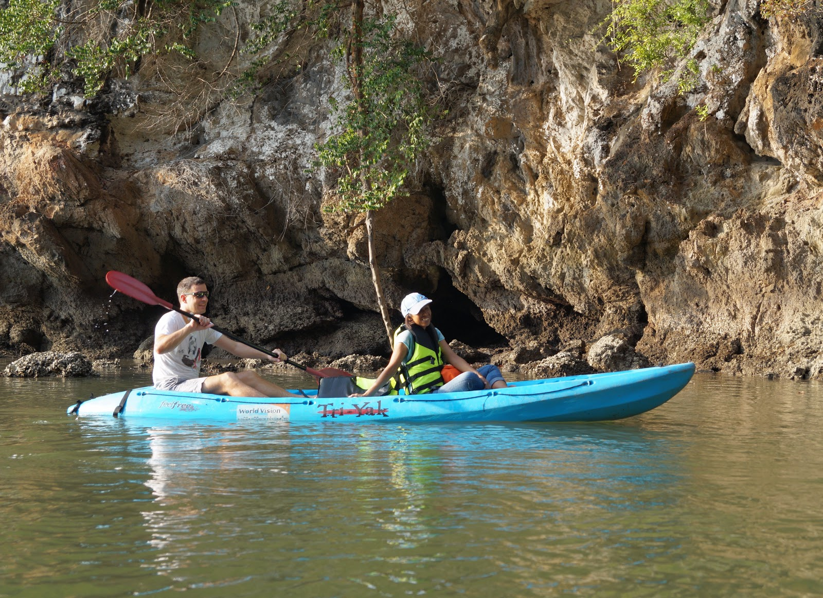 Krabi Adventure Day Trip with Kayaking and Elephant Riding