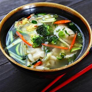 Asian Potsticker Soup.