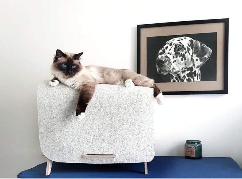 Tim Defleur ha diseñado The Wool Lodge, una pieza moderna de muebles para mascotas
