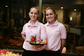 Photo: Taylor's Restaurant staff indulged our love for pink with matching polos.