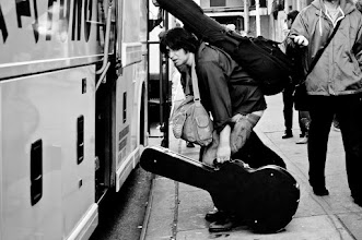 Photo: He is boarding the Chinatown bus. Destination unknown. Presumably to play a show somewhere. #streetphotography New York City
