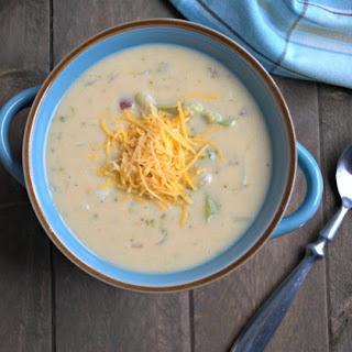 Healthy Broccoli Potato Cheese Soup.