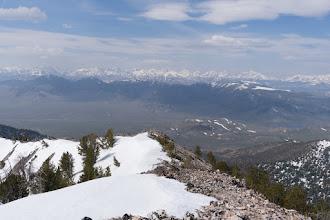 Photo: Looking down the upper ridge to Peak 10,112