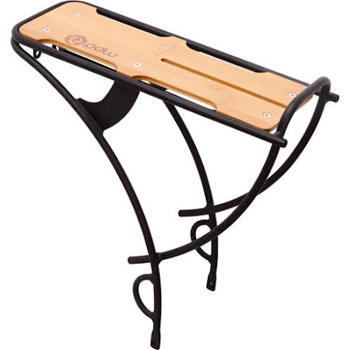 Portland Design Works Loading Dock Rear Rack: Alloy with Bamboo Deck