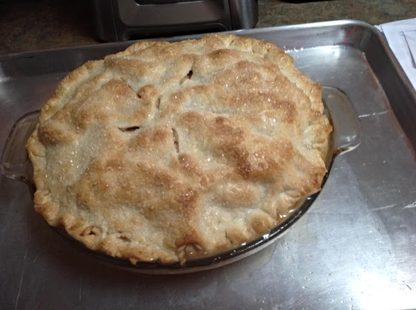 Bake until crust is golden brown. May need to add foil to edge of...