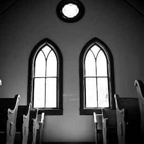 by S. Hutchison - Black & White Buildings & Architecture